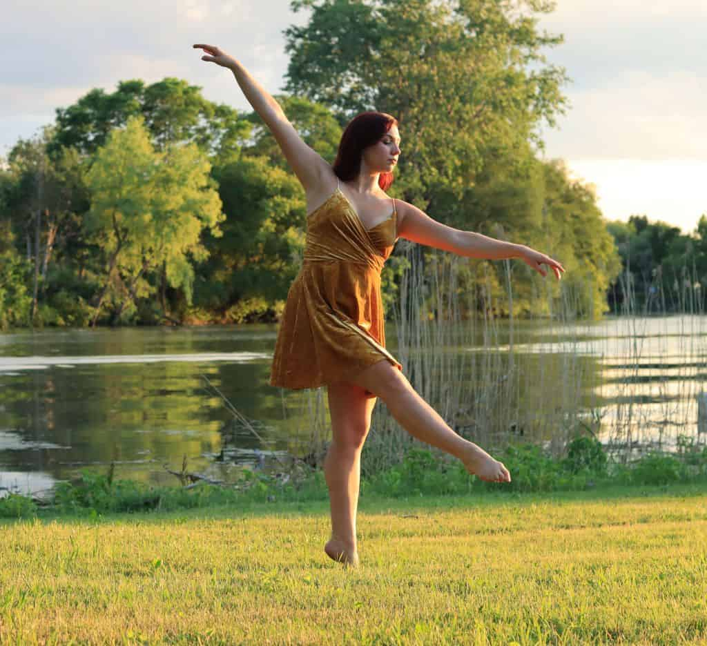 brianna dance pose by river